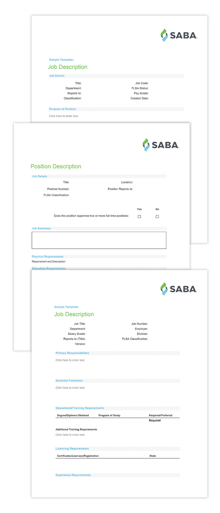 job description templates リソース
